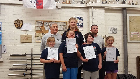 Featherstone WLC Dev Match lifters and coaches